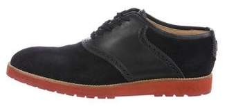 Louis Vuitton Suede & Leather Oxfords