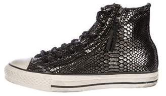John Varvatos Converse by Metallic High-Top Sneakers