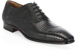 Saks Fifth Avenue COLLECTION BY MAGNANNI Lizard Monk Cap Toe Oxfords