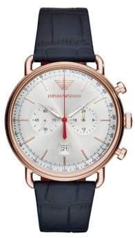 Emporio Armani Mens Quartz Chronograph Aviator Dress Watch