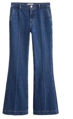 Mango MANGO Decorative seam flared jeans