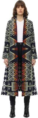 Jessie Western WATER LONG INTARSIA WOOL COAT