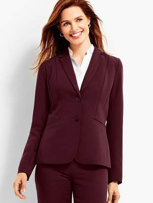 Talbots Seasonless Crepe Double-Button Blazer
