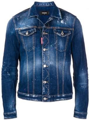 DSQUARED2 paint splattered denim jacket