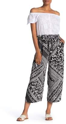 Laundry by Shelli Segal Paperbag Waist Scarf Print Pants
