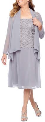 R & M Richards Long Sleeve Embellished Jacket Dress