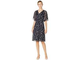 Lauren Ralph Lauren B718 Floral Satin Livoti Short Sleeve Day Dress