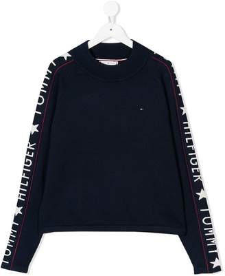 Tommy Hilfiger Junior TEEN logo sleeve jumper