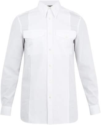 Calvin Klein Point-collar single-cuff cotton shirt