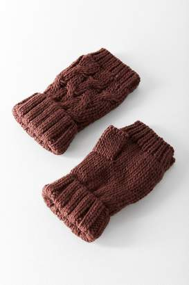 Urban Outfitters Cable Knit Plush Fingerless Glove