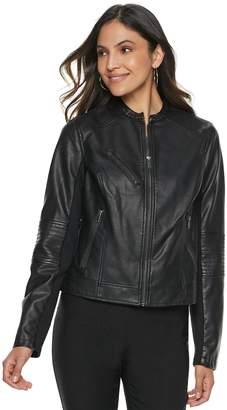 e342aff93bd2 Apt. 9 Women s Faux-Leather Moto Jacket