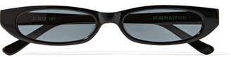 Roberi & Fraud - Frances Oval-frame Acetate Sunglasses - Black