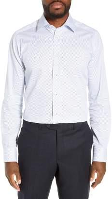 David Donahue Slim Fit Geometric Dress Shirt