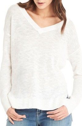 Women's Michael Stars V-Neck Sweater $128 thestylecure.com