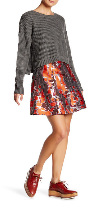Opening Ceremony Opening Ceremony Flare Print Skirt