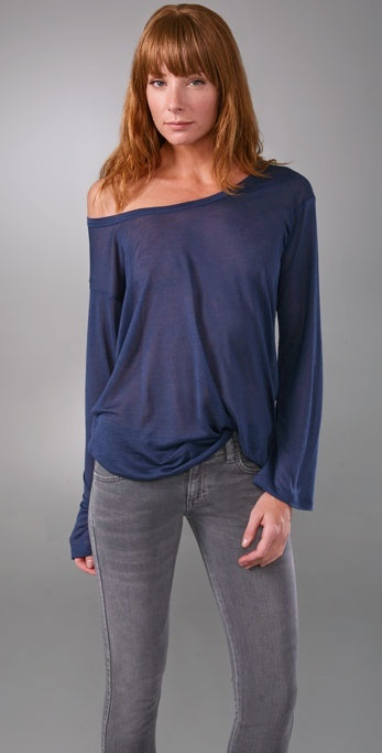 Kain Label Crew Neck Top with Long Sleeves