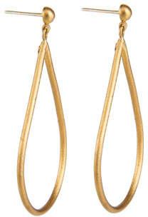 Yossi Harari Jane 24k Pear Drop Earrings