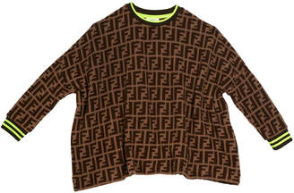 Fendi Allover FF-Print Sweater, Size 4-8