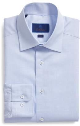 David Donahue Slim Fit Micro Pattern Dress Shirt