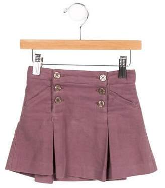 Little Marc Jacobs Girls' Pleated Dual Pocket Skirt