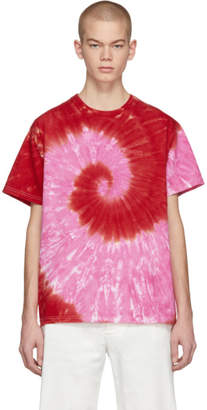 Kwaidan Editions SSENSE Exclusive Pink and Red Tie-Dye T-Shirt