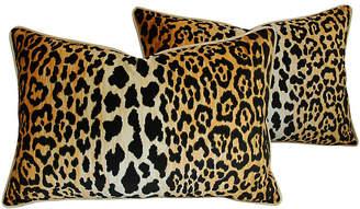 One Kings Lane Vintage Leopard Spot Safari Velvet Pillows