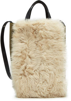Rag & Bone Convertible Suede Tote with Shearling
