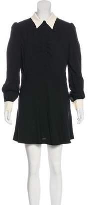 Saint Laurent Long Sleeve Mini Dress w/ Tags