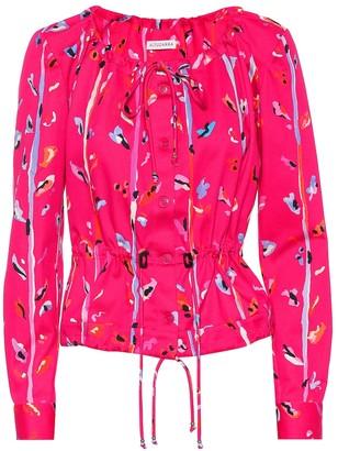 Altuzarra Agata printed stretch cotton jacket