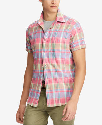 Polo Ralph Lauren Men's Big & Tall Classic Fit Cotton Madras Shirt