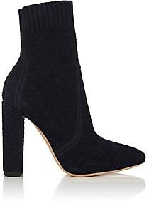Gianvito Rossi Women's Isa Bouclé-Knit Ankle Boots - Denim