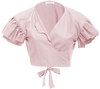 Vivetta Ruffle Sleeve Cropped Blouse $290 thestylecure.com
