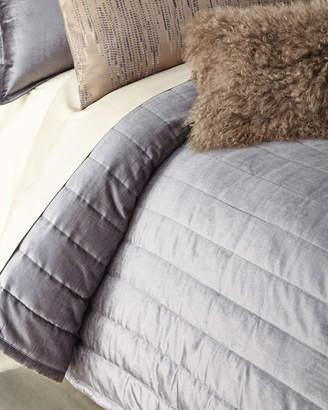 Donna Karan Home Full/Queen Channel-Sti Thread Counth Velvet Quilt