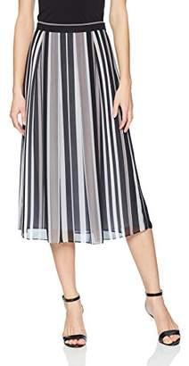 Anne Klein Women's Striped MIDI Skirt