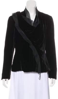 Giorgio Armani Velvet Zip-Up Jacket