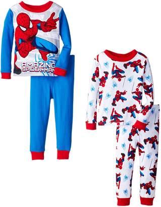 Marvel Little Boys' Spiderman Amazing Webs 4-Piece Pajama Set,Multi