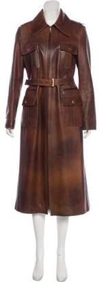 Celine Leather Long Coat