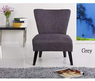 US Pride Furniture Alice Contemporary Fabric Upholstered Accent Chair, Dark Grey, C-042