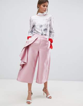 Ted Baker Wide Leg Ruffle Pants