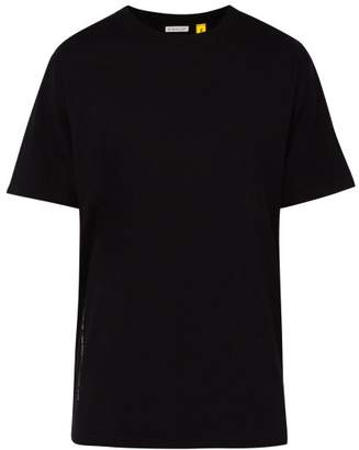 Moncler 7 fragment 7 Fragment - Text Print Cotton Jersey T Shirt - Mens - Black