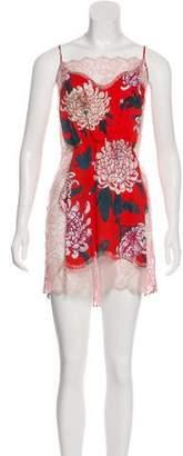 Fleur Du Mal Printed Slip Dress