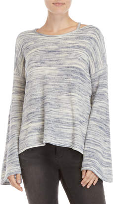 Vince Camuto Drop Shoulder Space-Dye Pullover