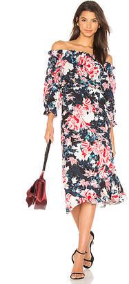 SALONI Grace Dress in Blue $572 thestylecure.com