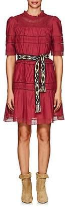 Etoile Isabel Marant Women's Vicky Lace-Embellished Cotton-Blend Voile Minidress