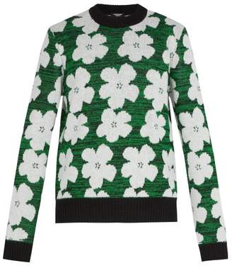 Calvin Klein 1964 Flowers Alpaca And Wool Blend Sweater - Mens - Green