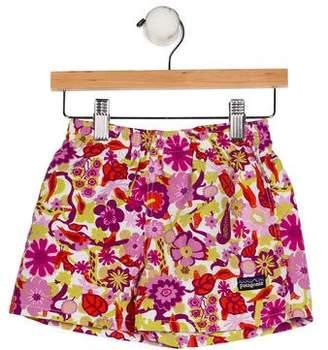 Patagonia Girls' Printed Swim Shorts