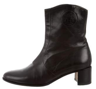 Hermes Logo Ankle Boots