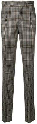 Pt01 plaid tailored trousers