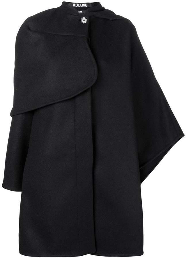 asymmetric cape coat