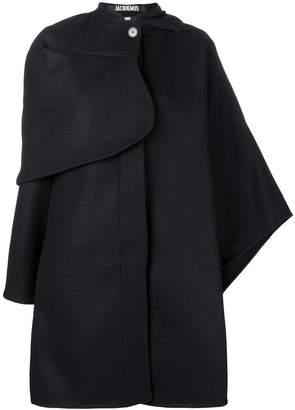 Jacquemus asymmetric cape coat